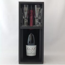 """1688 Grand Rosé """"ノンアルコール"""" ペアグラスセット"""