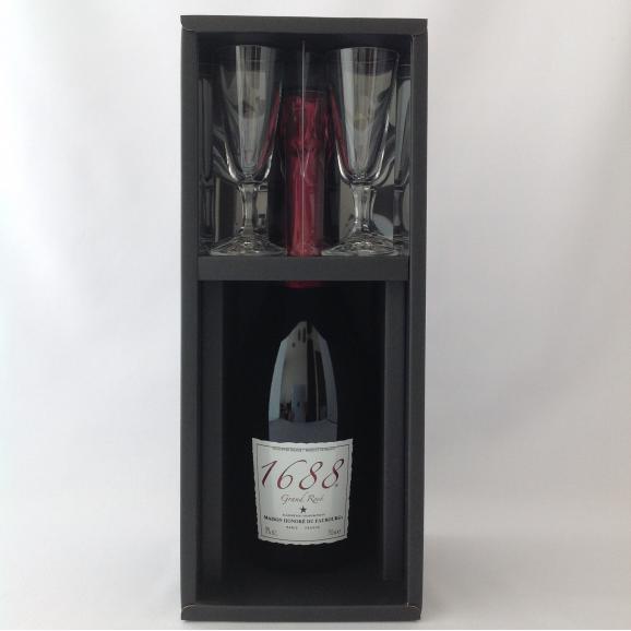 """1688 Grand Rosé """"ノンアルコール"""" ペアグラスセット01"""