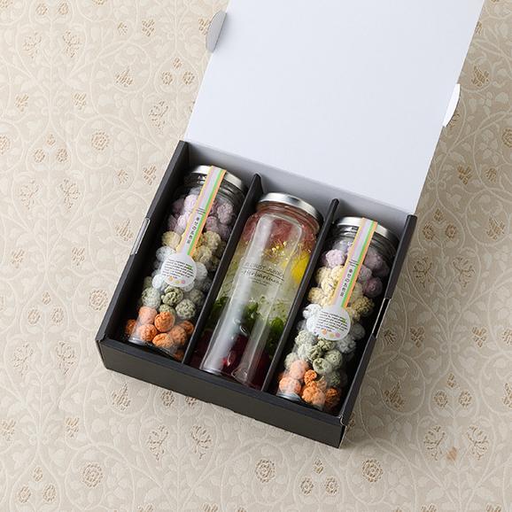 幸せの贈りもの ~幸せの五色豆と五色ハーバリウムギフトボックス~04