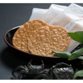 角谷藤兵衛が長年による研究の末、こだわりにこだわり抜いて完成した「熟成二度焼 かに煎餅 かなめ」