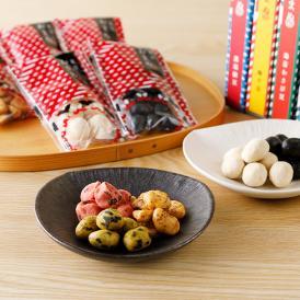 創業150年の老舗豆菓子屋の職人が、一粒一粒作り上げる豆菓子。パッケージにもこだわりが光ります。