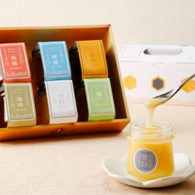 ヨーグルト専用やコーヒー専用など、6種の専用はちみつを、 老舗の養蜂問屋がお届けします。