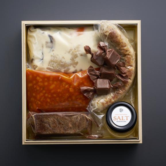 【送料無料】【生おせち】【3~4人前】【22品】【三段重】フレンチレストランソルト白金 特製フレンチ生おせち 自家製塩バター・塩キャラメル付き04