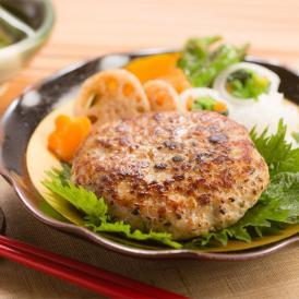 塩麹と白味噌でお肉のうま味を更に引き出したハンバーグ。