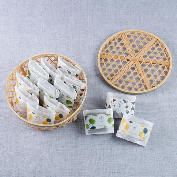 竹かご入 果子ケーキ13個詰合せ04