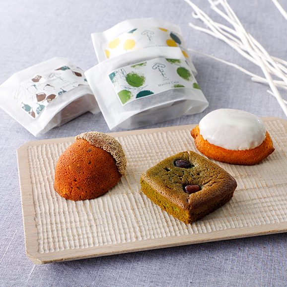 竹かご入り 果子ケーキ6個 詰め合わせ01