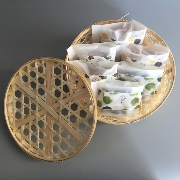 竹かご入り 果子ケーキ6個 詰め合わせ04