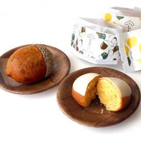 白い紙箱に入った果子ケーキ2種の詰め合わせです。