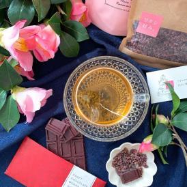 お茶・チョコ・カカオニブ、それぞれが持つ美しさと美味しさはまさにスーパーフード!