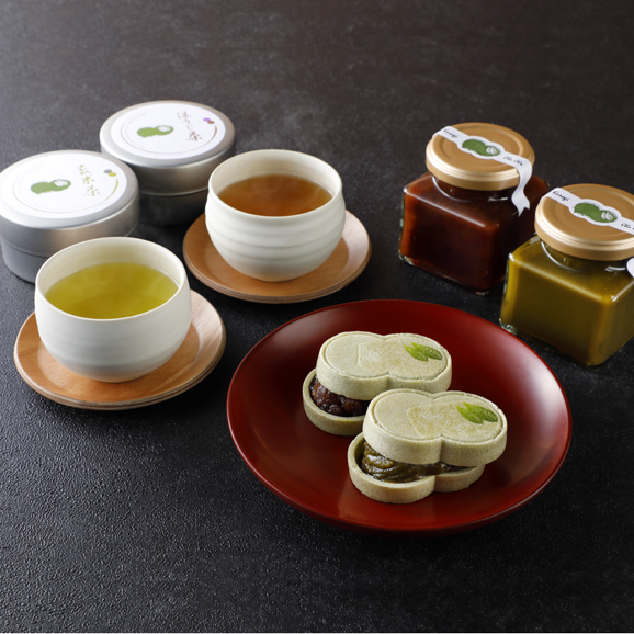 宇治抹茶最中セット01