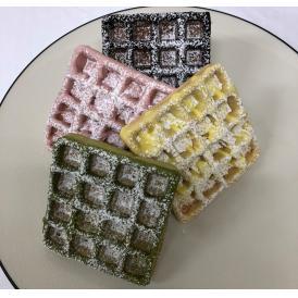 魚沼米グルテンフリーワッフル チョコワッフル4種(ショコラ・イチゴ・レモン・抹茶)24個セット