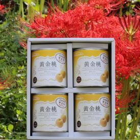 山形県産黄金桃缶詰一口サイズ 4缶ギフト さぬきかんづめだけど、秋田県由利本荘市にも工場があります。お取り寄せグルメでいかがですか? お歳暮 お中元 贈答にいかがですか?ぴえん通り越してぱおん!