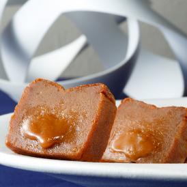 一口食べると、とろけだすような濃厚かつリッチな風味が口福へと導くキャラメルショコラ。