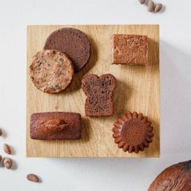 日本限定の焼き菓子は、それぞれの特徴に合わせて個性あふれるカカオ豆のクーベルチュール・ショコラを使用