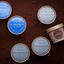 パリの工房で厳選されたカカオ豆から作られたクーベルチュール・ショコラを使用したアイスクリーム