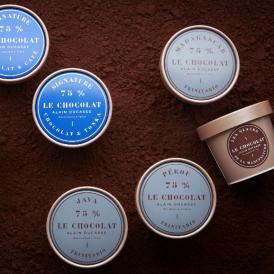 パリの工房で厳選されたカカオ豆から作られたクーベルチュール・ショコラを使用したショコラアイス