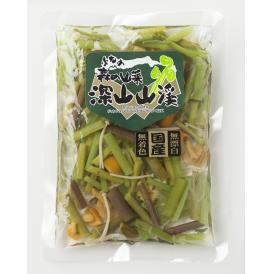 送料無料「国産山菜ミックス 水煮」 ミネラル・マイナスイオンの豊富な月山山系の伏流水使用 1袋