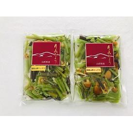 【送料無料】「国産山菜ミックス 水煮」 ミネラル・マイナスイオンの豊富な月山山系の伏流水使用 2袋セット