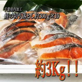 「送料無料」鮭切り落とし 3kg(300g×10)業務用にも