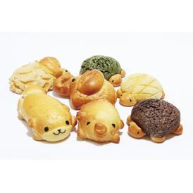 京都産小麦せときらら、秋田の白神酵母など原料にこだわり、丁寧に作ったかわいい動物パンです。