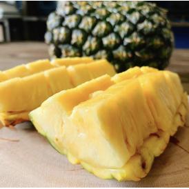 沖縄県産の新品種のパイナップル、ゴールドパレル!、ジューシーで特有の甘みをお楽しみください。