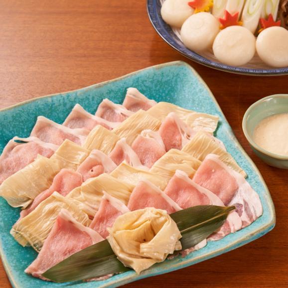 【送料無料 ギフト】神戸ポークと湯葉の鍋セット(湯葉ダレ・野菜付き) 4人前02
