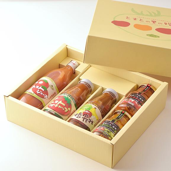 【まごころセット】トマトジュース、ケチャップ(385g、270g)、焼肉のたれ、トマバジソース 各1本03