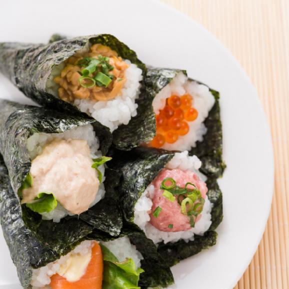 【送料無料】寿司屋御用達の手巻き専用海苔!寿司屋の手巻海苔 国産 半切40枚(20枚×2袋)05