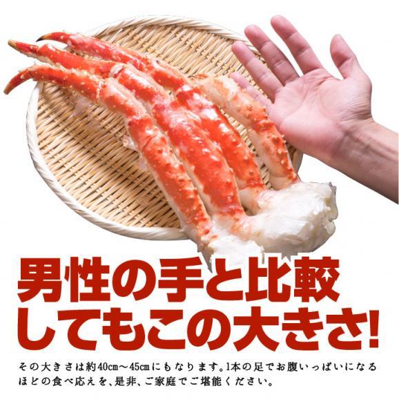 たらばがに(カニ かに 蟹 タラバガニ たらば蟹)足1kg(1肩)解凍後約800g 03