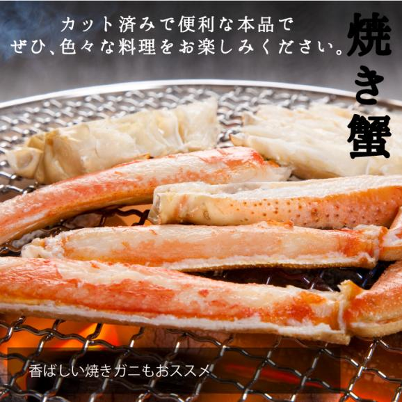 生食可 生ズワイガニ(かに 蟹 カニ ずわいがに) 特大サイズ生ズワイ蟹足しゃぶ1kg(500g×2袋)約28本~33本前後06