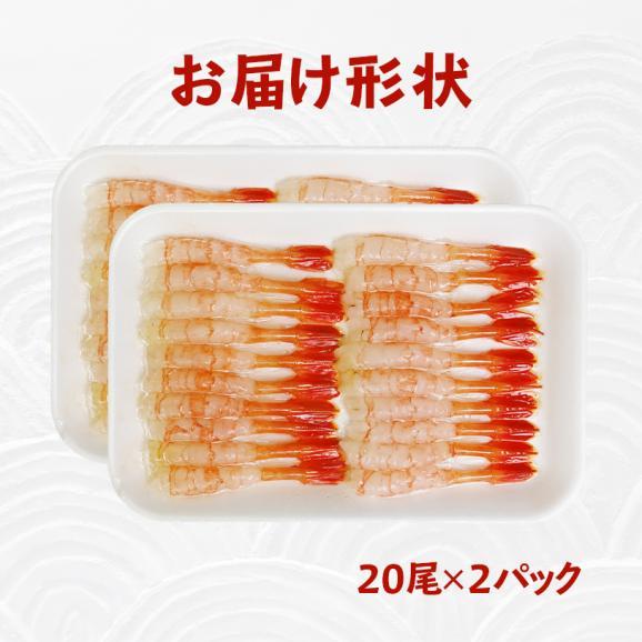 金沢まいもん寿司オリジナル 北陸産甘エビむき身 20尾×2パック05