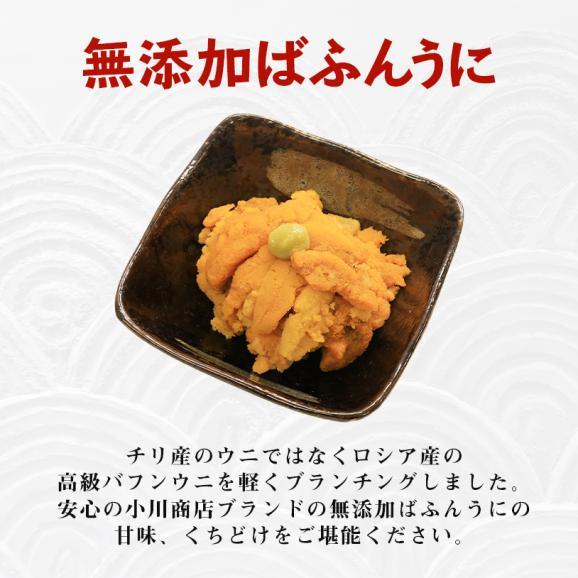 金沢まいもん寿司オリジナル 無添加ばふんうに 80g×2パック03