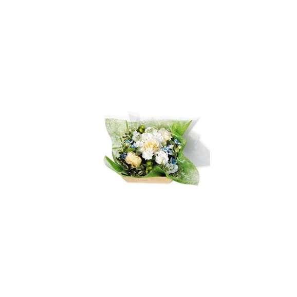 フラワー&スイーツギフトBOX(ホワイト×グリーン)02