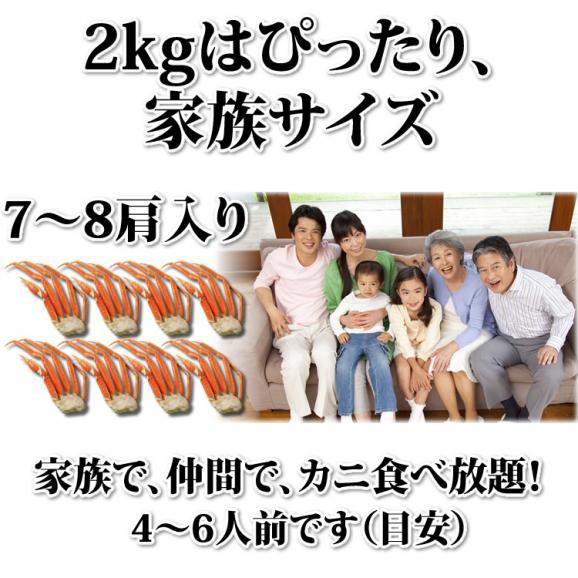 大型 ずわいがに脚 2kg (3Lサイズ)【化粧箱入】【送料無料】 02