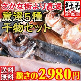 【日本海さかな街実店舗限定 干物5種セット】魚の宝庫 日本海さかな街のますよね実店舗より、店舗販売限定の干物セットをお届けします※店舗より直送の為、同梱不可