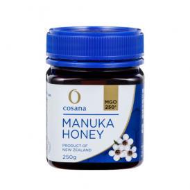マヌカハニー コサナマヌカハニー MGO250 250g 1本 生はちみつ フトモモ科の低木のマヌカの小さな花から採られたハチミツです。