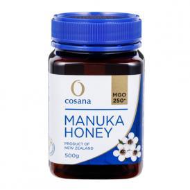 マヌカハニー コサナマヌカハニー MGO250 500g 1本 生はちみつ フトモモ科の低木のマヌカの小さな花から採られたハチミツです。