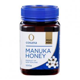 マヌカハニー コサナマヌカハニー MGO400 500g 1本 生はちみつ フトモモ科の低木のマヌカの小さな花から採られたハチミツです。