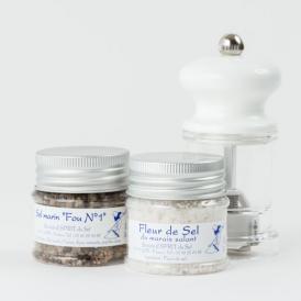 レ島の天然塩 ミル付きお試し2品セット
