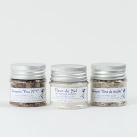 幻の高級塩「フールドセル」(レ島の塩の花)と粗塩、ハーブソルトの3種お試しセット
