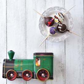 【4本セット】おすすめポップケーキ+シルバークレイン缶(機関車)入り