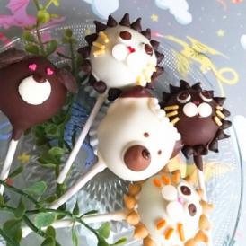 かわいいアニマル柄 ライオン ポップケーキ