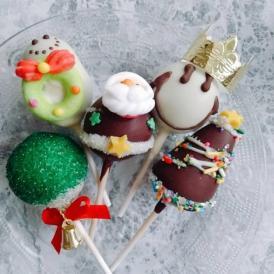 【5本セット クリスマスオーナメントポップケーキ】かわいいクリスマス