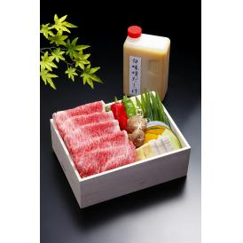 しゃぶしゃぶを白味噌仕立ての京風だしで頂く商品です。