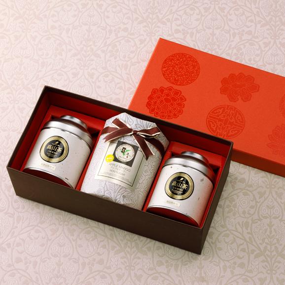 高級高山茶と無添加ドライアップルマンゴーの詰め合わせ04