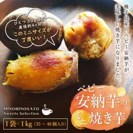 種子島産ベビー安納芋の冷凍焼き芋1キロ。 ミニミミひと口サイズ。