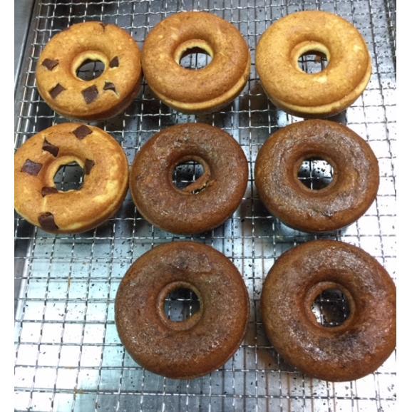 焼きドーナツ 3種セット(8個入) うちなー黒糖x4 プレーンx2 チョコチップx202
