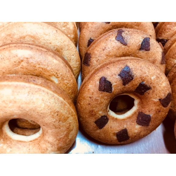 焼きドーナツ 4種セット(8個入) うちなー黒糖x2 クルミ黒糖x2 プレーンx2 チョコチップx205
