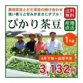 【予約販売】【8月下旬~8月末出荷】黒埼茶豆とだだちゃ豆の掛け合わせ!香りも甘みもダブル!「ぴかり茶豆」1kg