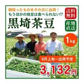 【予約販売】【8月上旬~8月中旬出荷】今年も予約開始!大人気!新潟のブランド枝豆「黒埼茶豆」1kg